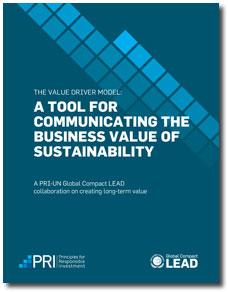 Global Compact Value Driver Model Report