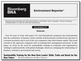 Sustainability Training Article