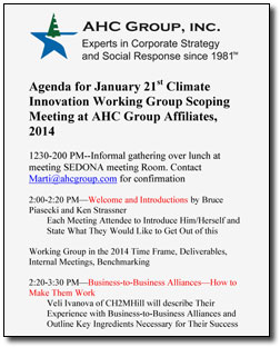 Carbon Workshop Agenda - January 2014