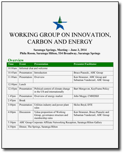 Carbon Workshop Agenda - June 2014