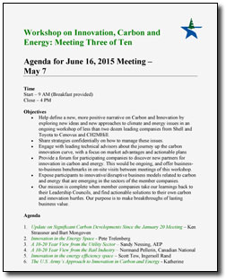 Carbon Workshop Agenda - June 2015