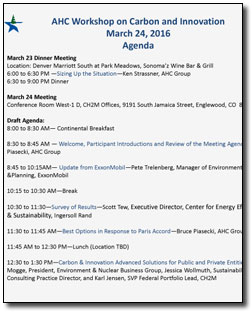 Carbon Workshop Agenda - March 2016