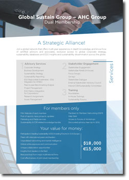 Global Sustain - AHC Group Dual Membership Flyer