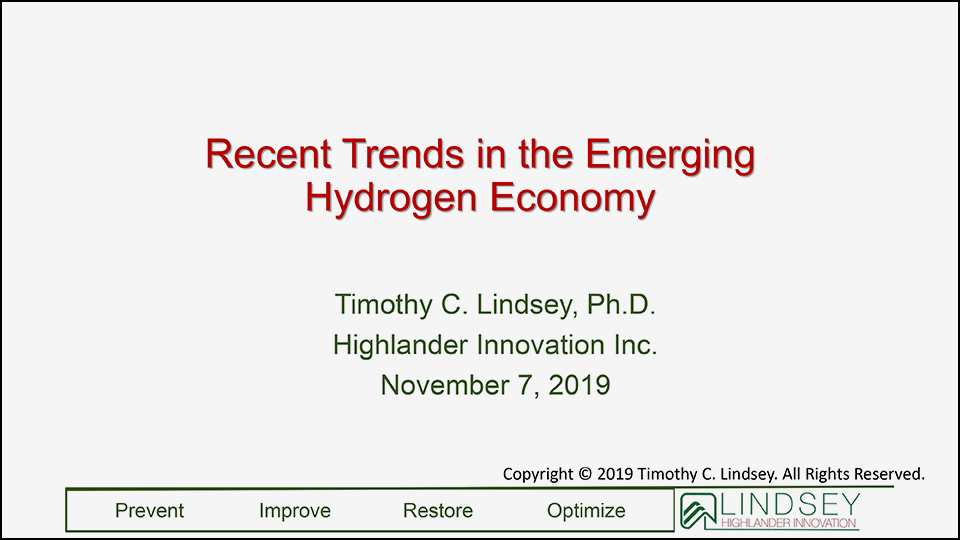 Recent Trends in the Emerging Hydrogen Economy