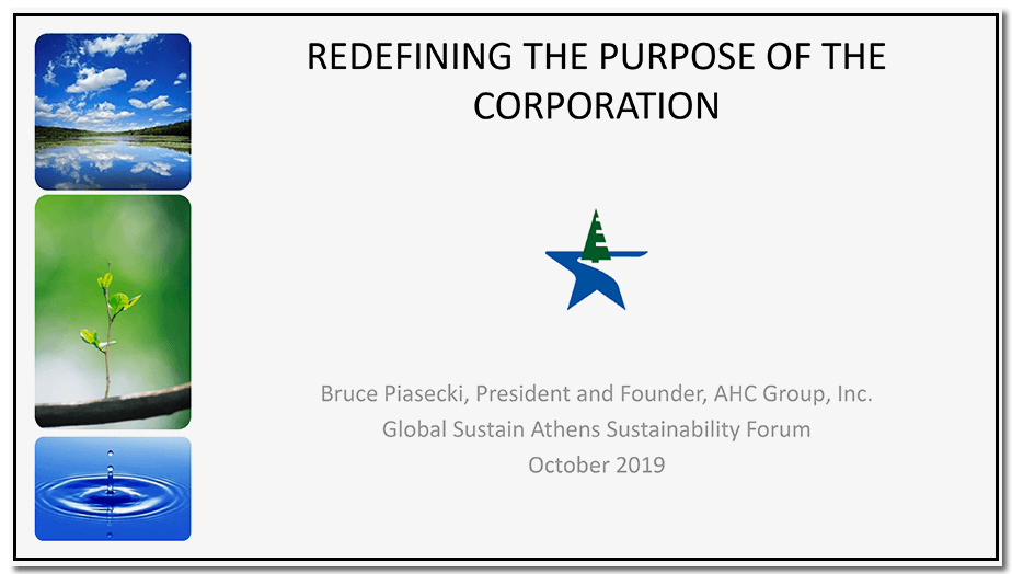 Redefining the Purpose of a Corporation