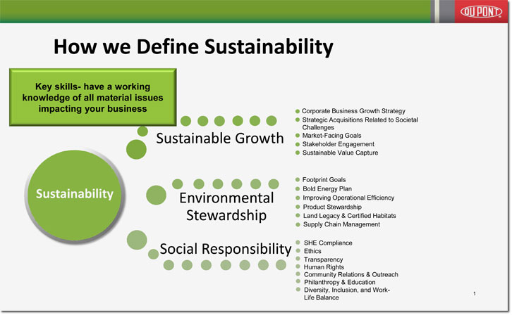 Workshop Slide: How We Define Sustainability