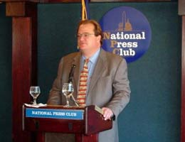 Bruce Piasecki speaking at National Press Club