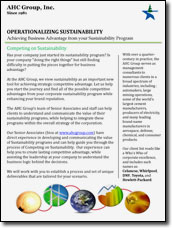 Sustainability Offering
