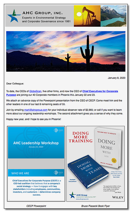 Sample AHC Group Newsletter