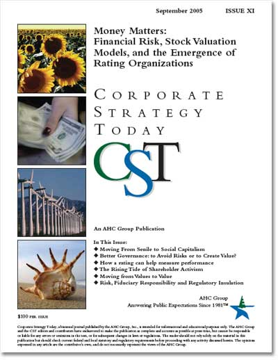 Corporate Strategy Today: Issue 11