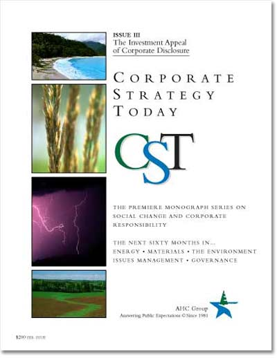Corporate Strategy Today: Issue 3